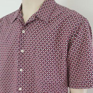 men's cotton red white blue Old Navy shirt L